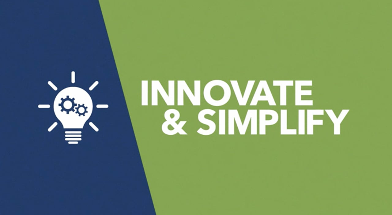 Innovate & Simplify Title Image